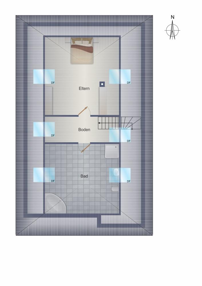 Dachgeschoss - ausgebaut